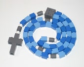 The Original Lego Rosary - Blue and Gray Catholic Rosary Boys First Communion Gift