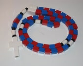 The Original Catholic Lego Rosary - Red and Blue Rosary (The Divine Mercy)