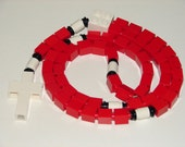 The Original Catholic Lego Rosary - Red and White for Boy or Girl First Communion Gift