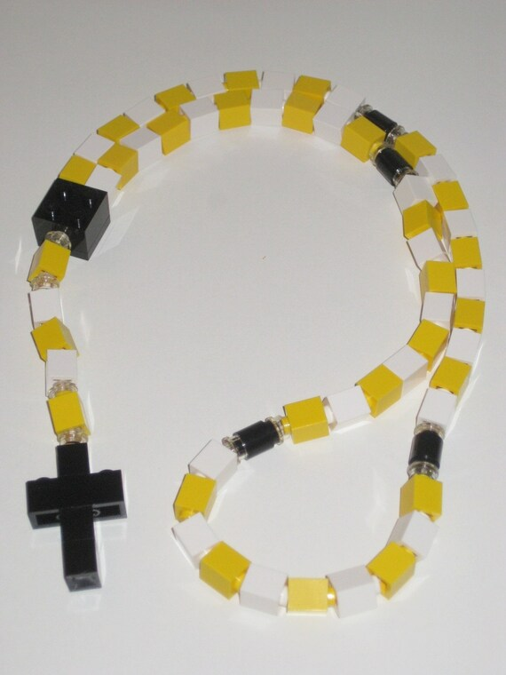 Yellow and White Catholic Lego Rosary (The Honeybee)