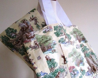 CLEARANCE Unisex Baby Sling Diaper Bag Infant 2 Piece Set Yellow Bear Print - Size Small