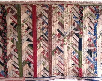Reality TV Quilt Patchwork Calico Kitsch Contemporary Pop Art  - 62.5 x 37.5 Inches