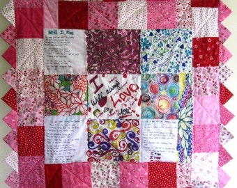 Wall Quilt Patchwork Domestic Violence Survivor Feminist  - Size 35 x 33.5 Inches