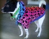 reserved for coastalaquhotmailcom Keep The Peace Fleece Dog Shirt small