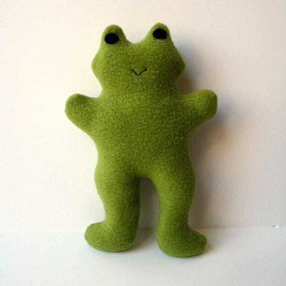 Froggie Squeaky Fleece Dog Toy