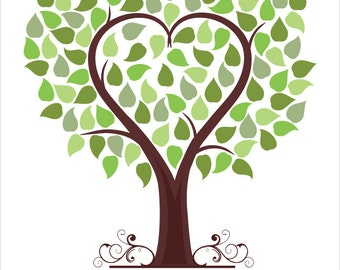 Wedding signature tree, guest book alternative, wedding tree print poster, guestbook ideas, wedding reception, wedding keepsake wall art