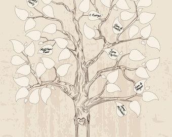 Wedding guestbook tree, unique guest book alternative signature wedding tree vintage rustic wedding guestbook guest book anniversary gift