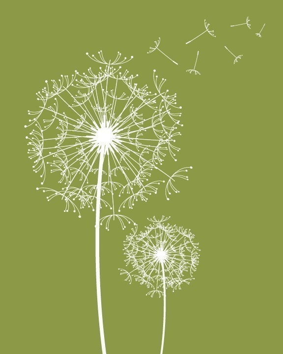 contemporary dandelion head floral - photo #3