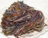 NIGHT ON THE TOWN hand spun yarn corespun 75 yards 4 ounces