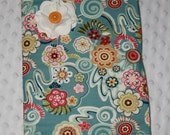 Fabric Covered Journal- Light Blue with Flowers