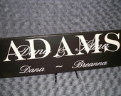 Family Member Personalized Sign - ADAMS