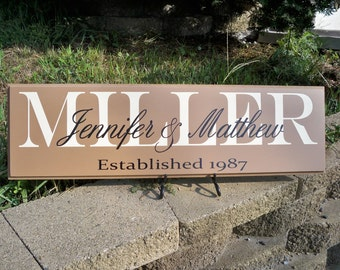Last Name Sign, Family Name Sign, Family Sign, Name Signs, Personalized Signs, Name Sign, Custom Signs, Established Sign, Custom Name Sign