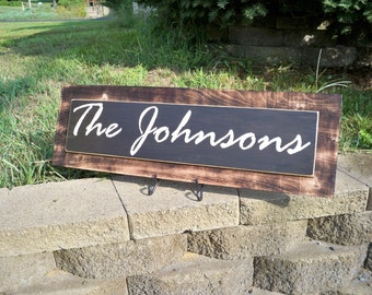 Burnt Wood sign,  Personalized Family Name Sign, Last Name Sign, Personalized Name Sign, Wedding Gift, Rustic Sign, Personalized Family Sign