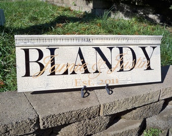 Personalized Family Name Sign, Last Name Sign, Name Sign, wedding sign, Distressed Sign, Established Sign, wedding decor, rustic sign