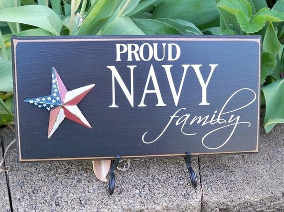 Proud Navy Family Handmade Painted Sign