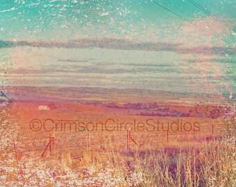 Photo print, Far Horizons 3 - rural SA, colour enhanced landscape 5x7