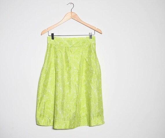 30 sale vintage citrus lime green 1960s high waist mod