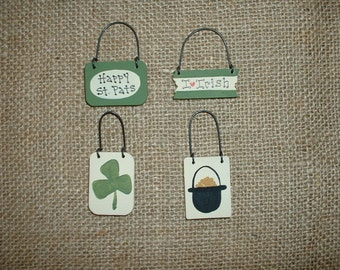 Mini ornaments -  Saint Patricks Day - Happy St. Pats