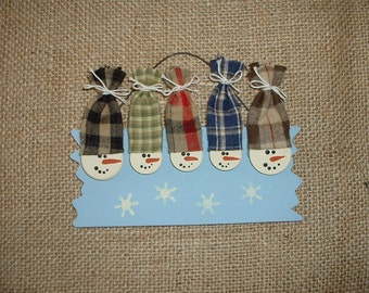 Personalized Snowmen Christmas ornament - Five family
