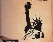 one three Wall Decals Stickers Vinyl Art Statue of Liberty