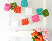 Crochet  Bunting - Garland - Banner in Granny Square Brights