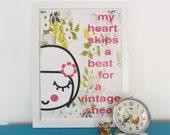 Vintage Sheet A3 Print Retro Girl