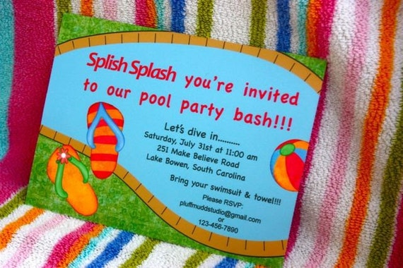 Pool Party DIY Printable Invite