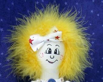 Patriotic Cloth Doll - Patsy PinHead (TM) is Patriotic
