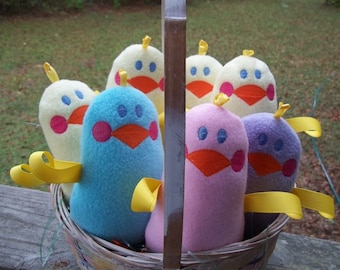 Handmade Plush Blue Chick