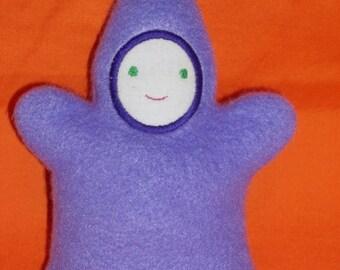 Handmade Lavendar Moonbeam Baby with Light Face - Stuffed Plush Doll Softie