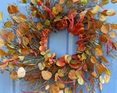 Large Autumn Spiral Wreath --FREE SHIPPING--