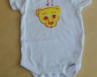 Astrological onesie, LEO, yellow and red