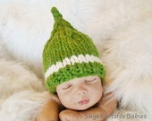 Knit Pixie Hat for Baby, Choose Your Colors, Photography Prop