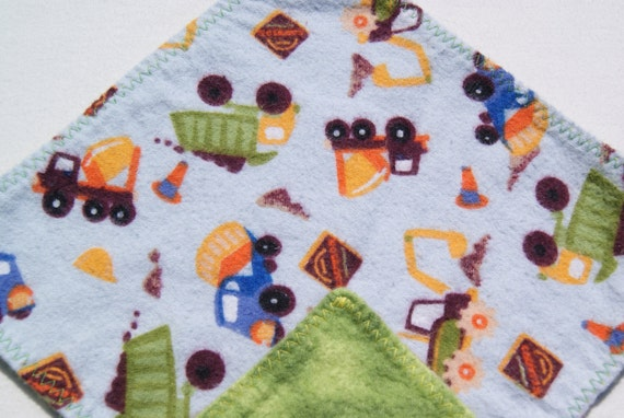 Baby Wipes, Cloth Napkins, Flannel Wipes, Trucks, Construction Vehicles, Toddler Napkins, Lunchbox