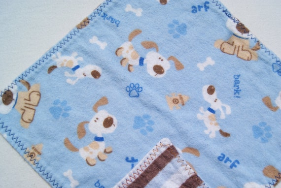 Baby Wipes Double Sided Flannel Wipes for Baby Upcycle Sale puppy dogs and polka dots