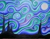 ACEO Swirly Night (print)