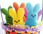6 Marshmallow Easter Peeps Original Colors