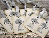 French Country Gift Tags-Floral-Urn