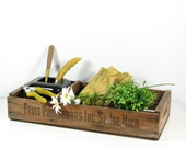 Vintage Wood Fruit Crate Tool Box Tray Fruit Processors St. Joe MI