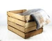 Vintage Wood Advertising Crate or Box