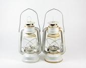 Vintage Lantern Hurricane Lamp Lighting Set of 2