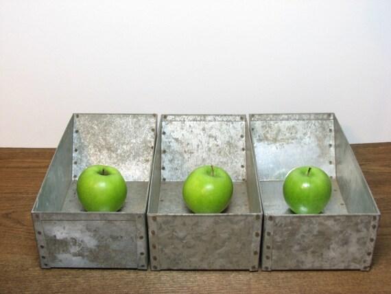 Reserved for Julie Shells - Industrial Metal Storage Bin Organizer