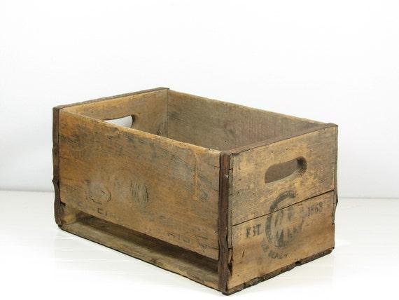 Vintage Wood Metal Crate W T Wagner & Sons Co Cincinnatti Ohio