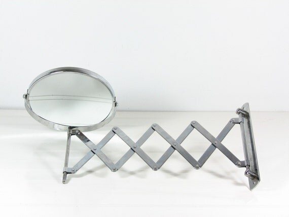Vintage Accordion Mirror Two Sided Swivel By Bridgewoodplace