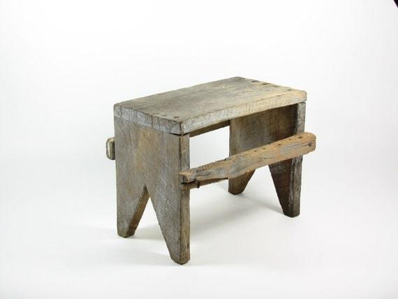 Reserved For Cye Gossett Vintage Wood Bench Wooden Footstool