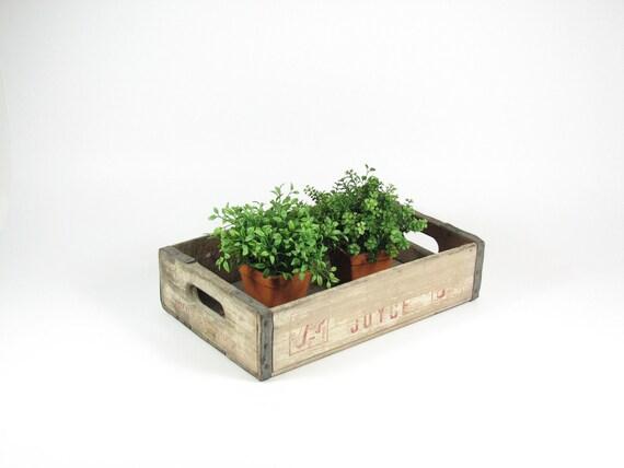 Vintage Wood Crate Wooden Box 7 Up Tom Joyce Soda Pop Crate Shadow Box Display Shelf