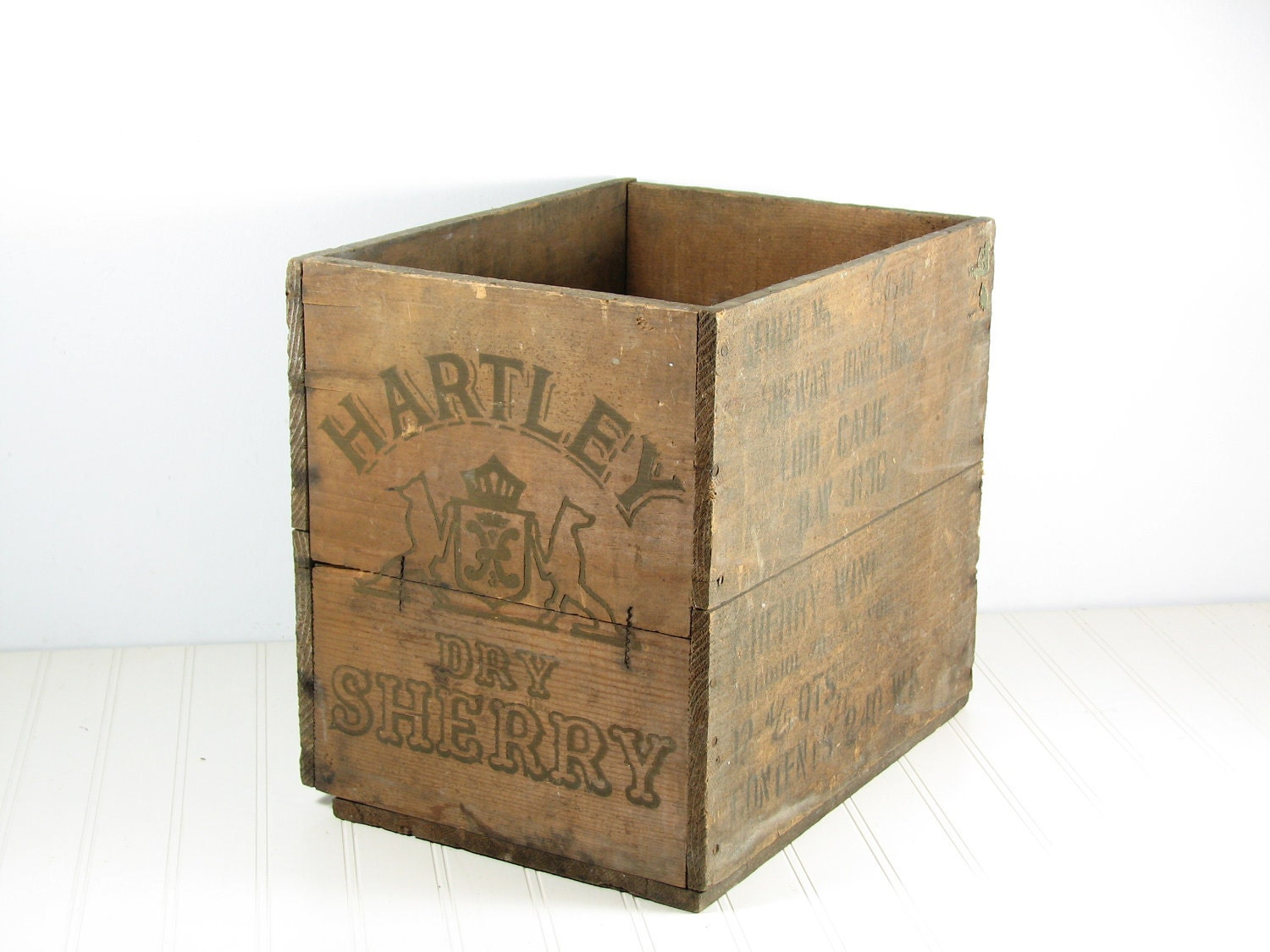 vintage wood wine crate