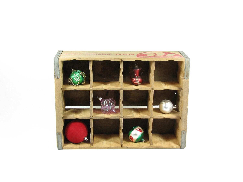 Vintage Wood Crate Wooden Box Rc Cola Display Case Shadow Box