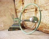 Vintage Mint Green Original Corvair Steering Wheel