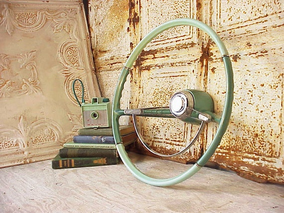 Vintage Mint Green Original Corvair Steering Wheel